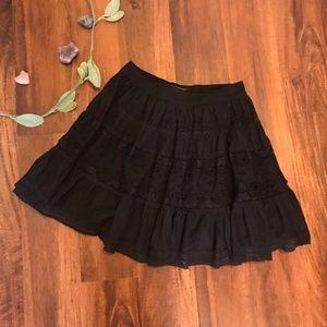 Zara TRF   Black Lace Mini Skirt